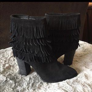 New $220 Black Fringe Designer Boots